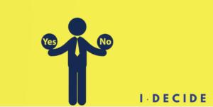 i decide event logo